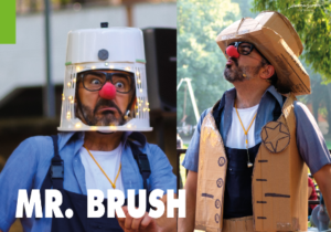 Spettacolo di Mimo e Clownnerie – Mr. Brush